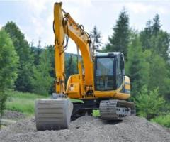 Heavy equipment rental for road projects